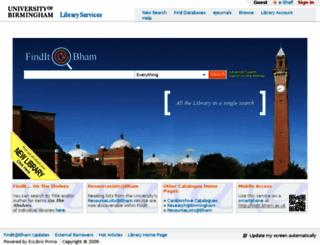 findit.bham.ac.uk screenshot