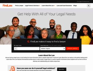 findlaw.com screenshot