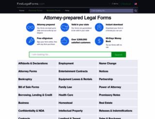 findlegalforms.com screenshot