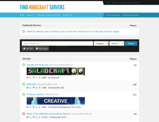 findminecraftservers.com screenshot