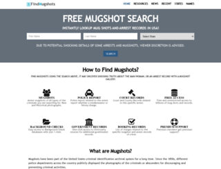 findmugshots.com screenshot