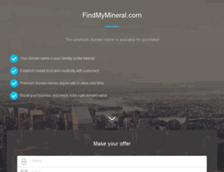 findmymineral.com screenshot