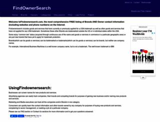 findownersearch.com screenshot