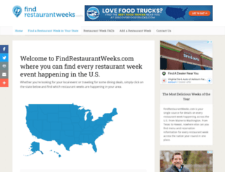 findrestaurantweeks.com screenshot