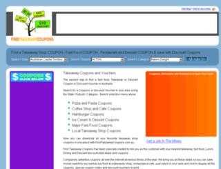 findtakeawaycoupons.com.au screenshot