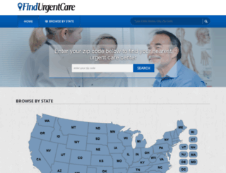 findurgentcare.com screenshot