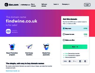 findwine.co.uk screenshot