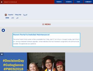 findyourschool.pwcs.edu screenshot