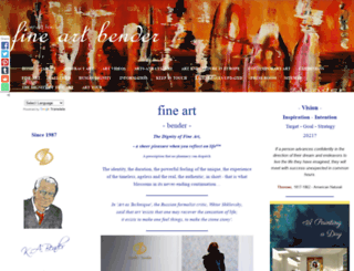fine-art-bender.com screenshot