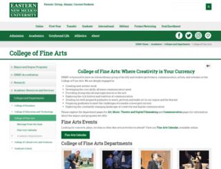 fine-arts.enmu.edu screenshot