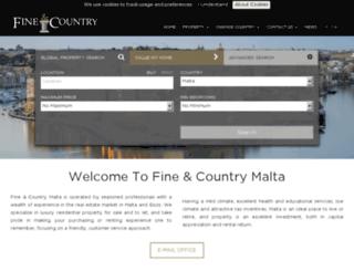fineandcountrymalta.com screenshot