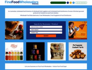 finefoodwholesalers.com.au screenshot