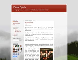 finest-spirits.blogspot.com screenshot