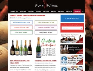 finewines.com.sg screenshot