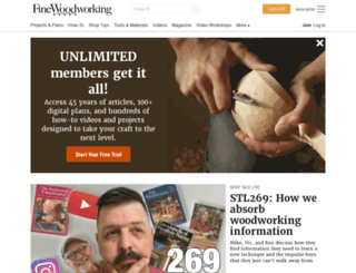 finewoodworking.com screenshot