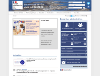 finistere.pref.gouv.fr screenshot