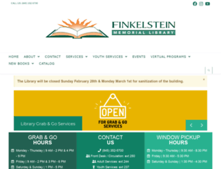 finkelsteinlibrary.org screenshot