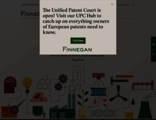 finnegan.com screenshot