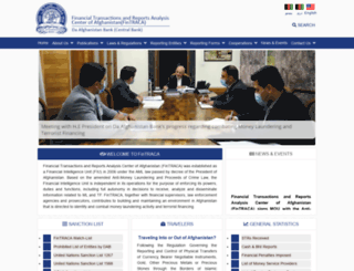 fintraca.gov.af screenshot