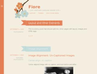 fiore-demo.calobeedoodles.com screenshot