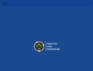 fip.um.ac.id screenshot