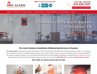 firealarmhouston.com screenshot