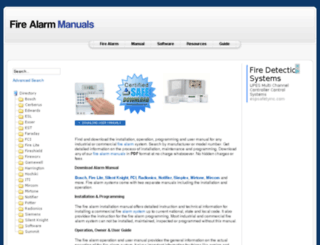 firealarmmanual.com screenshot