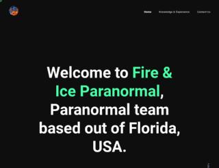 fireandiceparanormal.com screenshot