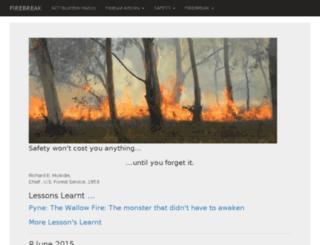 firebreak.com.au screenshot