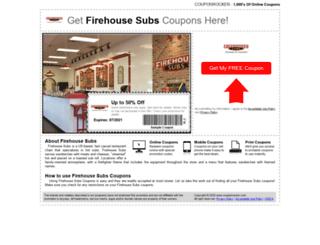 firehousesubs.couponrocker.com screenshot