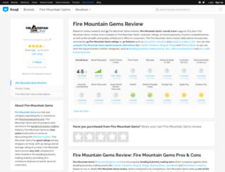 firemountaingemsandbeads.knoji.com screenshot