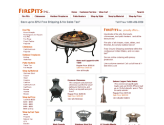 firepitsinc.com screenshot