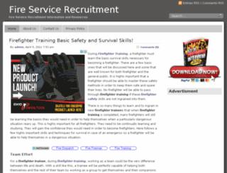 fireservicerecruitment.org screenshot