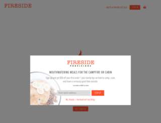 firesideprovisions.com screenshot