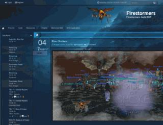firestormers.net screenshot