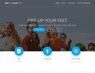 fireupyourfeet.org screenshot