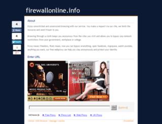 firewallonline.info screenshot