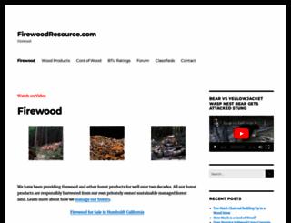 firewoodresource.com screenshot