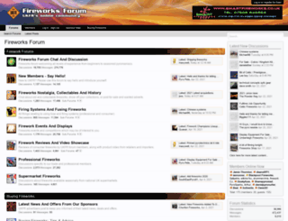 fireworks-forum.org.uk screenshot