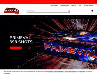 fireworksarcade.com screenshot