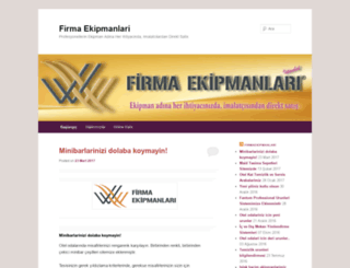 firmaekipmanlari.wordpress.com screenshot