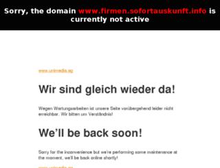 firmen.sofortauskunft.info screenshot