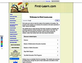 first-learn.com screenshot
