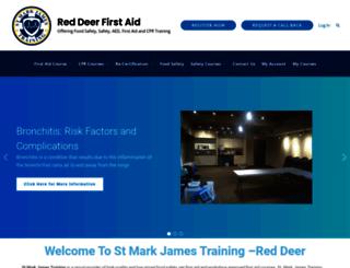firstaidreddeer.ca screenshot