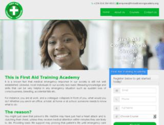 firstaidtrainingacademy.org screenshot