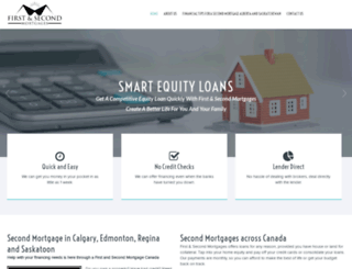 firstandsecondmortgages.ca screenshot