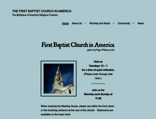 firstbaptistchurchinamerica.org screenshot