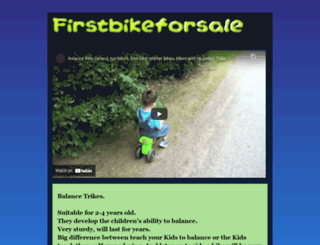 firstbikeforsale.blogspot.ie screenshot