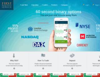 firstbinaryoption.com screenshot