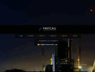 firstcallautomation.com screenshot